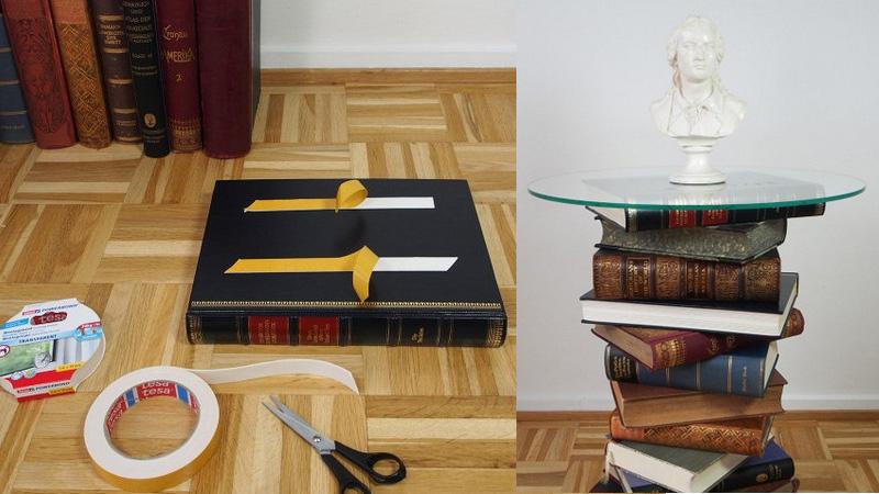 D.I.Y. โต๊ะกระจก สไตล์คลาสสิกจากหนังสือเล่มเก่า
