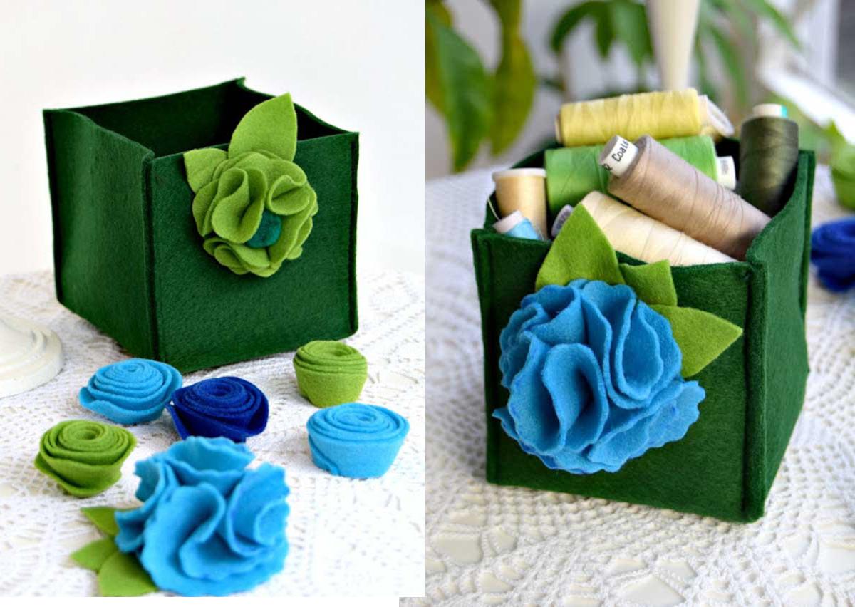 DIY วิธีเย็บผ้าสักหลาดแบบง่าย ๆ เป็นกล่องใส่ของ