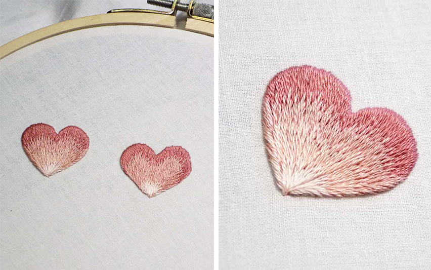 DIY ปักลายผ้าให้น่าสนใจ ด้วยการไล่เฉดสี