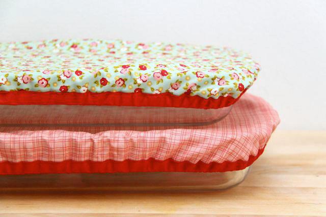 DIY มาเย็บผ้าคลุมถาดอาหารใช้แทนพลาสติกแรปกัน