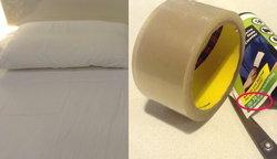 """DIวิธีทำความสะอาดที่นอนด้วย """"เทปกาว"""""""
