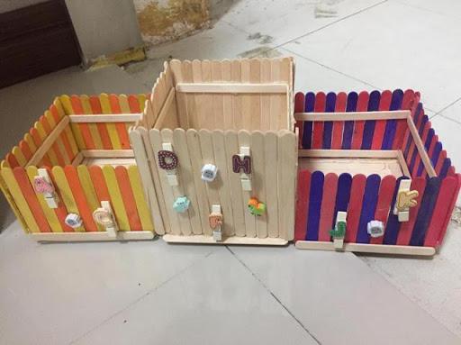 DIY ที่ใส่ดินสอจากไม้ไอติมง่ายๆ